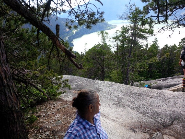 My mum hiking The Stawamus Chief, Squamish, BC