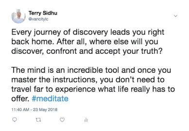 Meditation Tweet